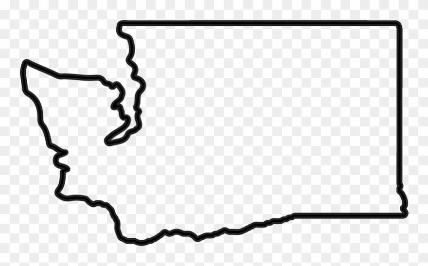 Washington Outline Rubber Stamp.