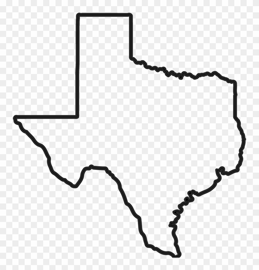 Texas State Outline Png, Transparent Png.