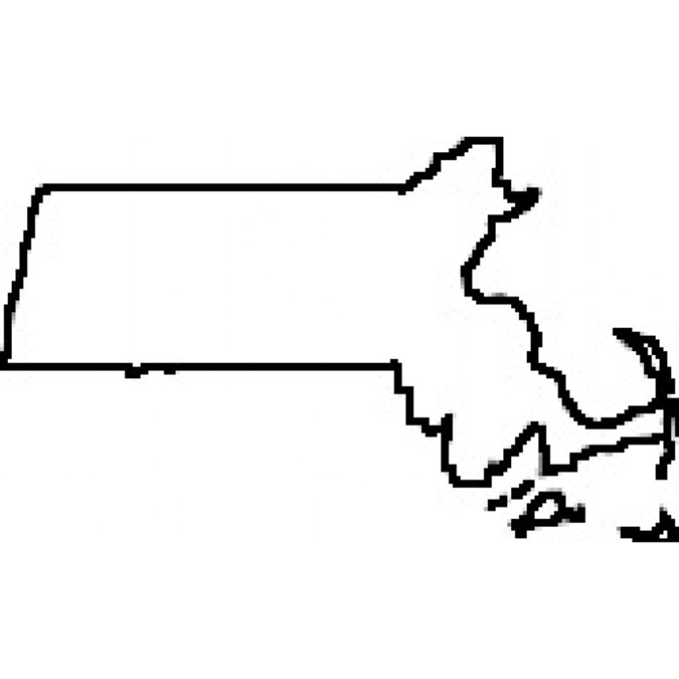 Massachusetts State Outline Clip Art free image.