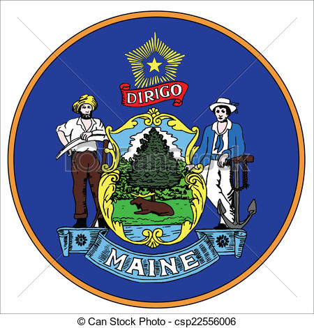 Vector Clipart of Maine State Seal.