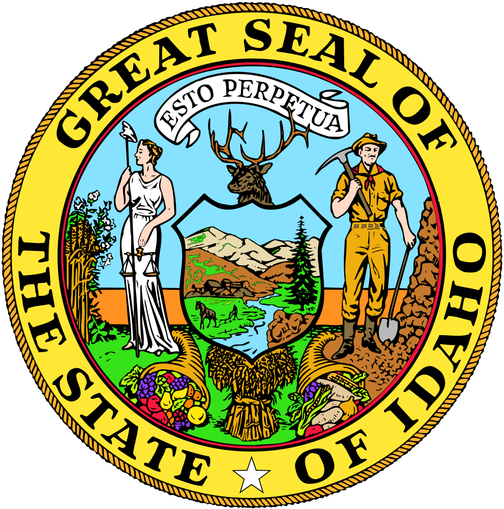 Idaho State Seal Clipart.