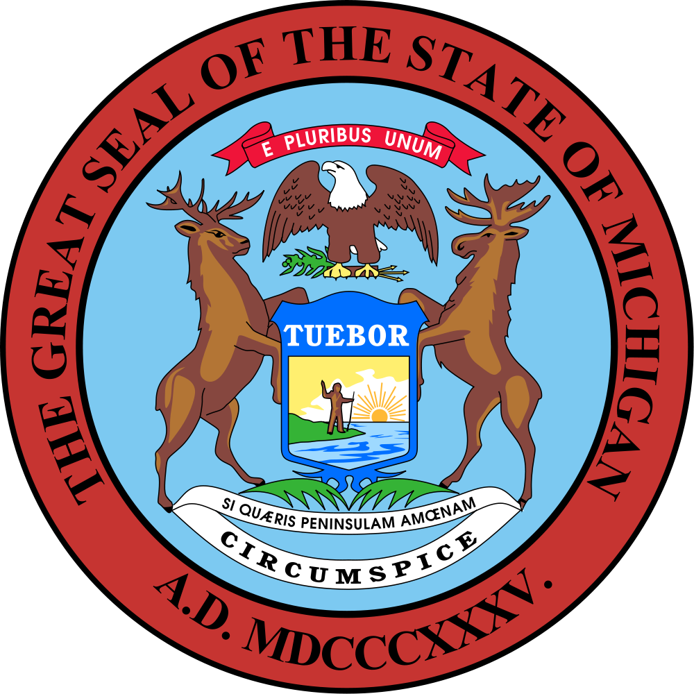 State Of Michigan Seal Clipart.