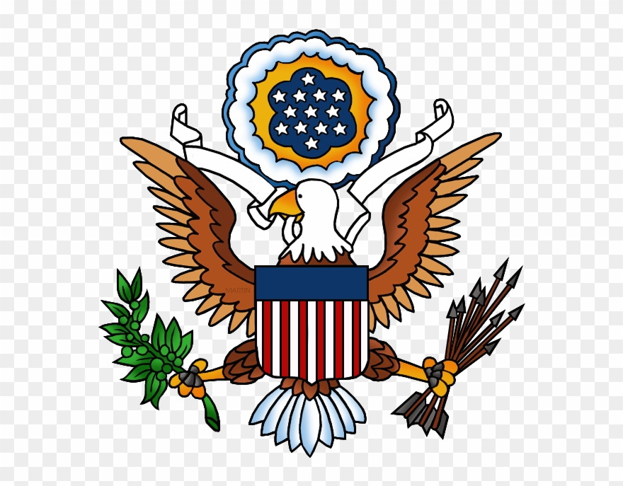 United States Clip Art By Phillip Martin, Great Seal.