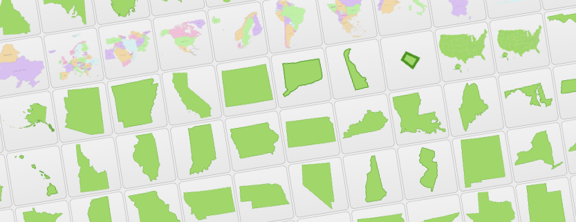 US States, Countries, Regions & World Maps Free Vector Clip.