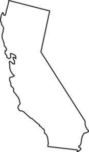 California State Outline Clip Art Clip Art at Clker.com.