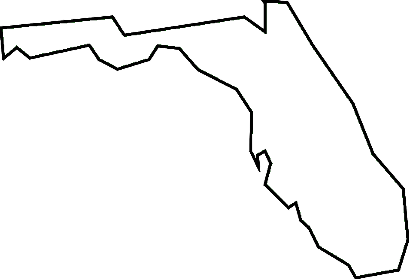 State Outline Clipart.