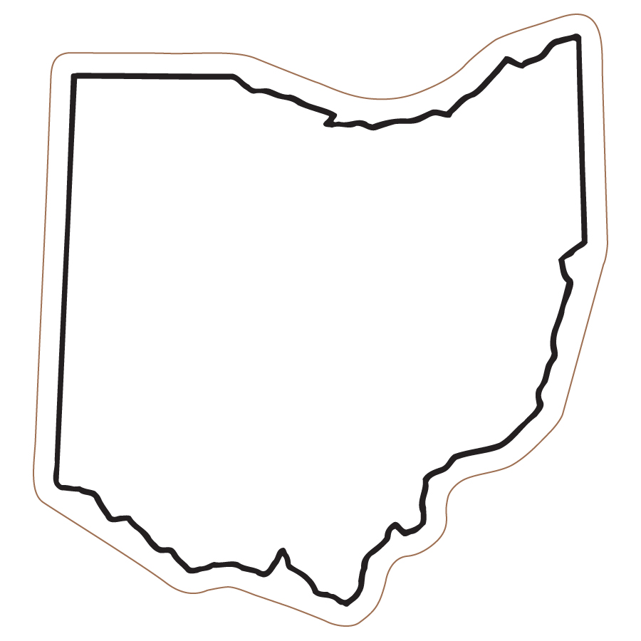 State Of Ohio Outline Clipart.