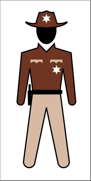 Clip Art: People: State Trooper Male Color I abcteach.com.