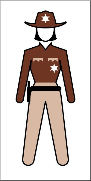 Clip Art: People: State Trooper Female Color I abcteach.com.