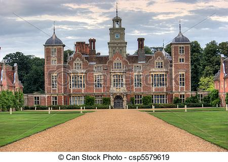Stock Photographs of A grand stately home set in immaculate.
