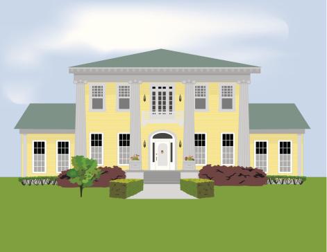 Mansion Clip Art, Vector Images & Illustrations.