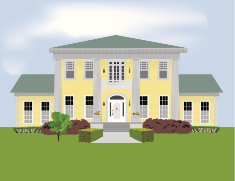 Mansion Clip Art, Vector Images & Illustrations.