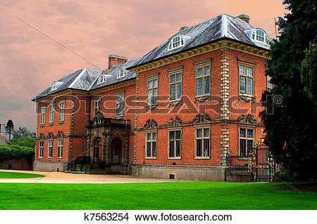 Stock Photo of Seventeenth century stately home Tredegar House.