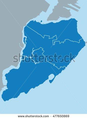 Map Of Staten Island Stock Vector Illustration 477650869.
