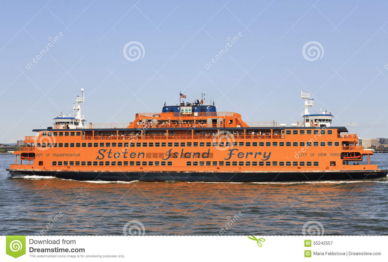 Staten Island Ferry, NYC, USA Editorial Photography.