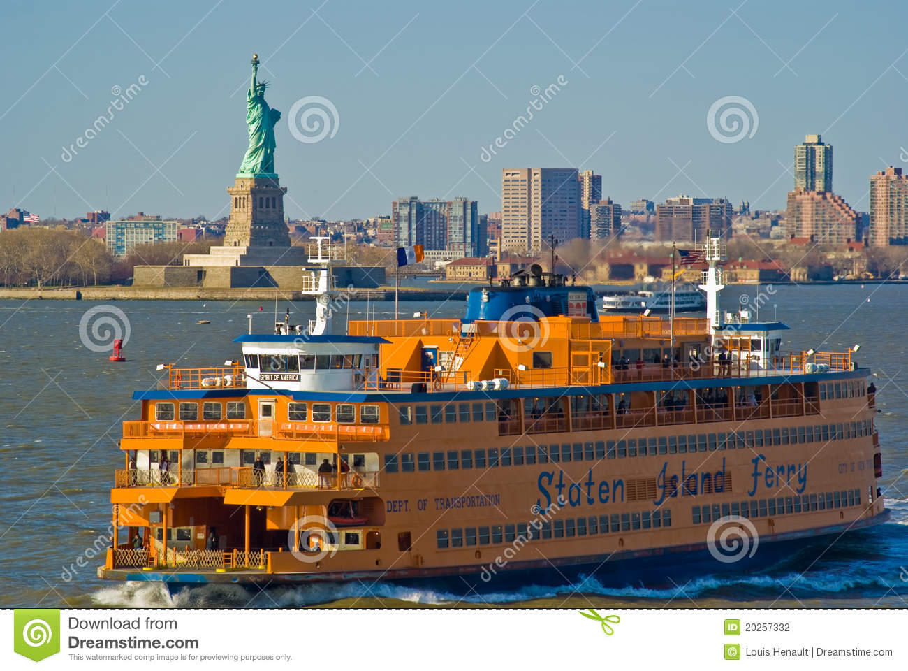 Staten Island Ferry, New York Editorial Photography.