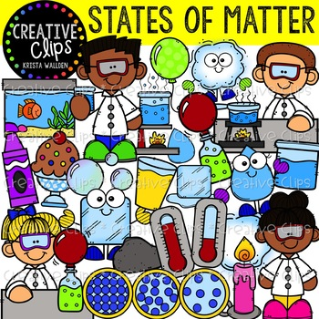 States of Matter Clipart {Creative Clips Clipart}.