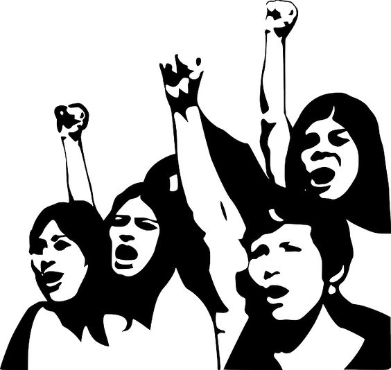 women protest clipart.
