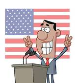 Clipart of Barack Obama line drawing k2321310.
