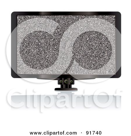 Clipart 3d Flat Screen Tv With Grungy Paint Splatters On The.