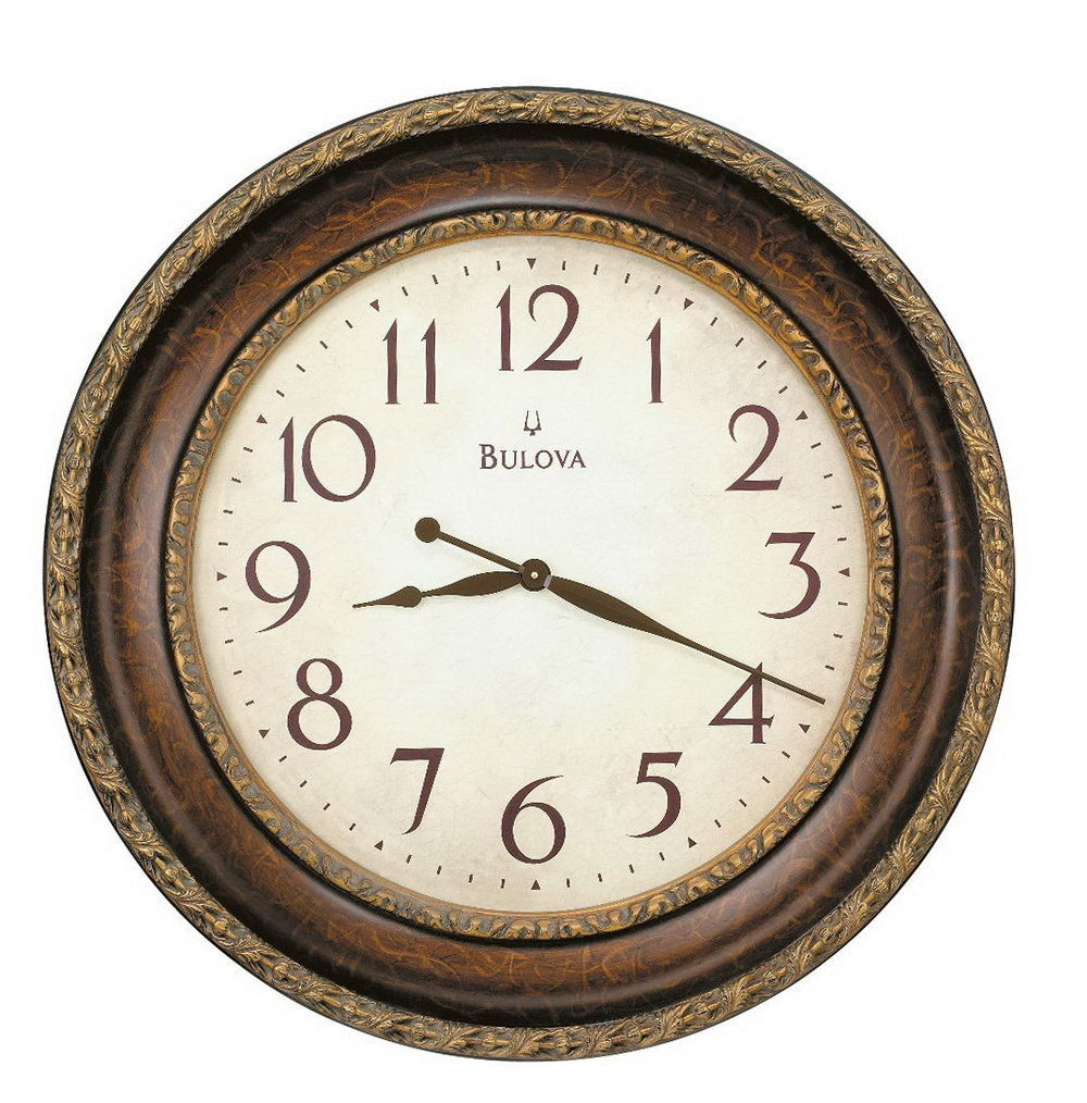Old Wall Clock Clipart.