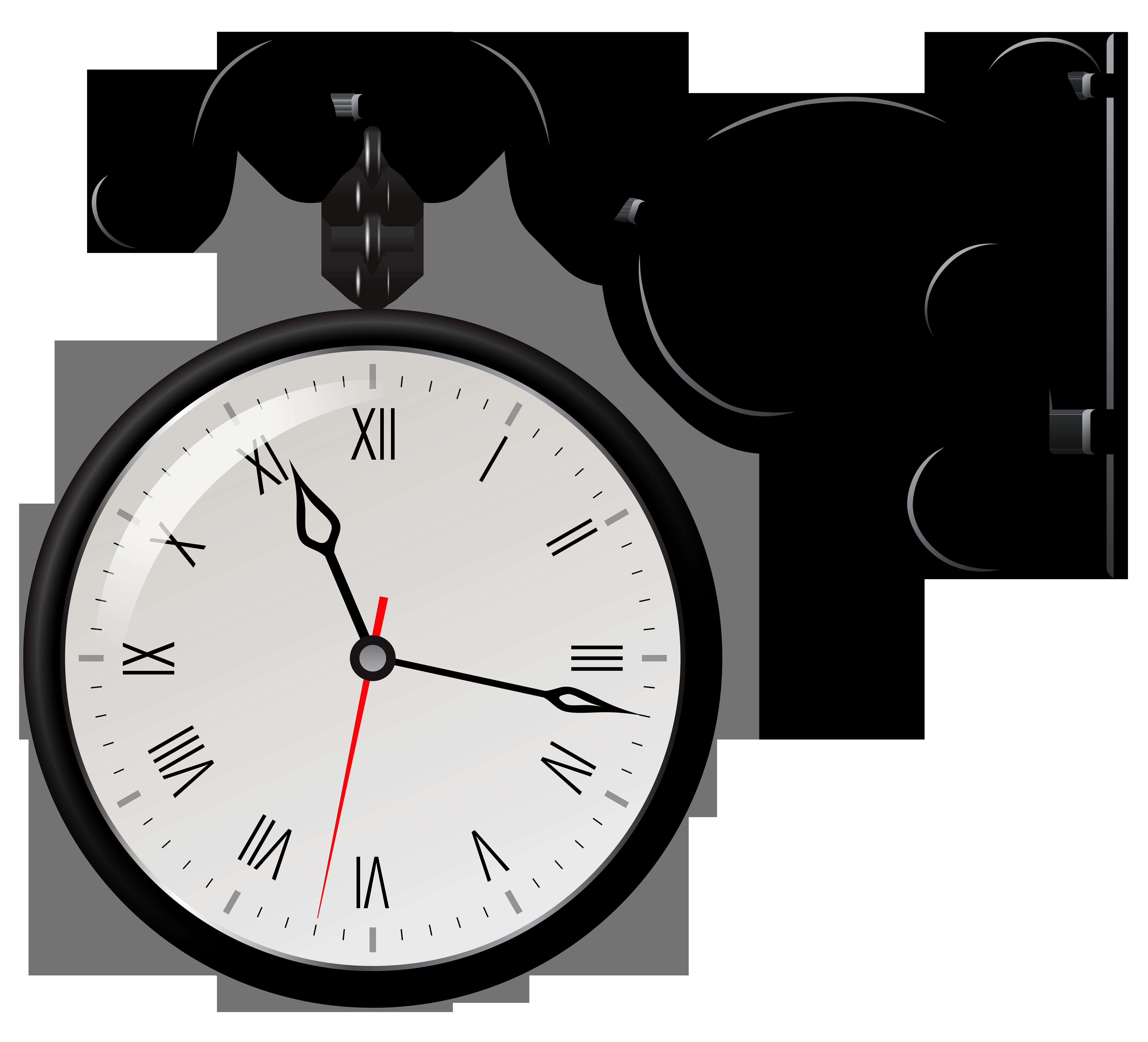 Street Clock PNG Clip Art.