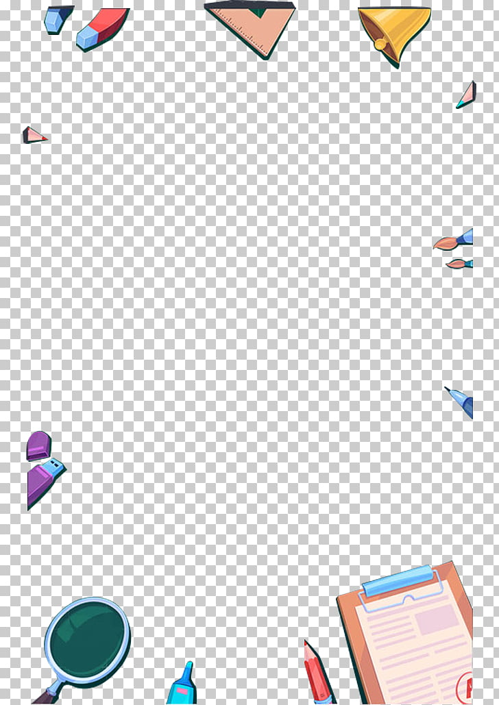 Stationery , Color stationery border effect PNG clipart.