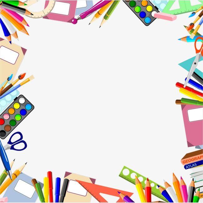 Stationery Border, Education Learning, Hand Painted Cartoon.