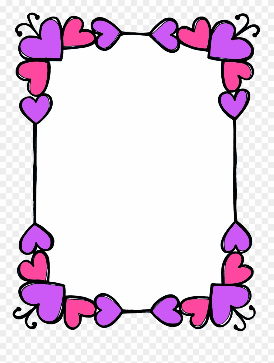 Frame Me Pinterest Stationary Clip Art.