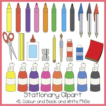 Stationary Clipart.