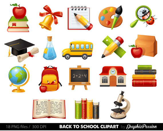 Kids at School clipart School clipart Back to school teacher.