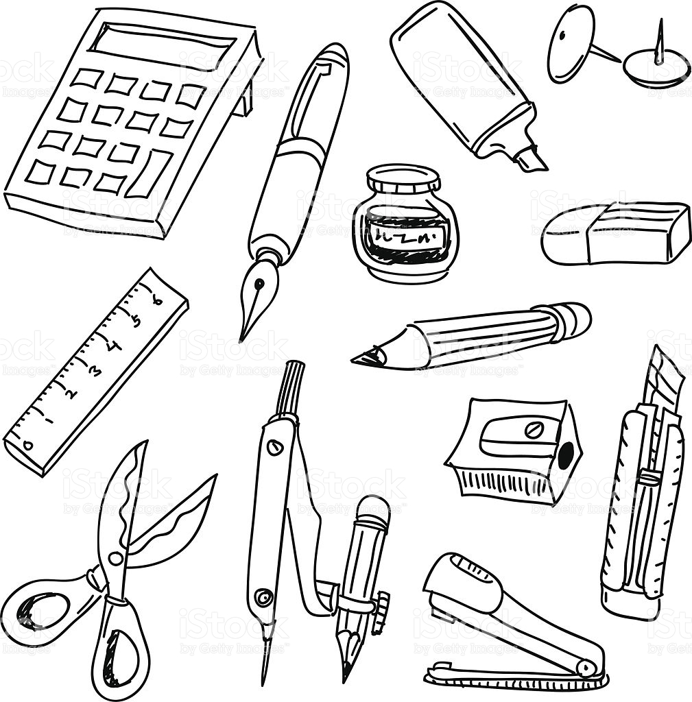 Stationery clipart black and white 8 » Clipart Station.