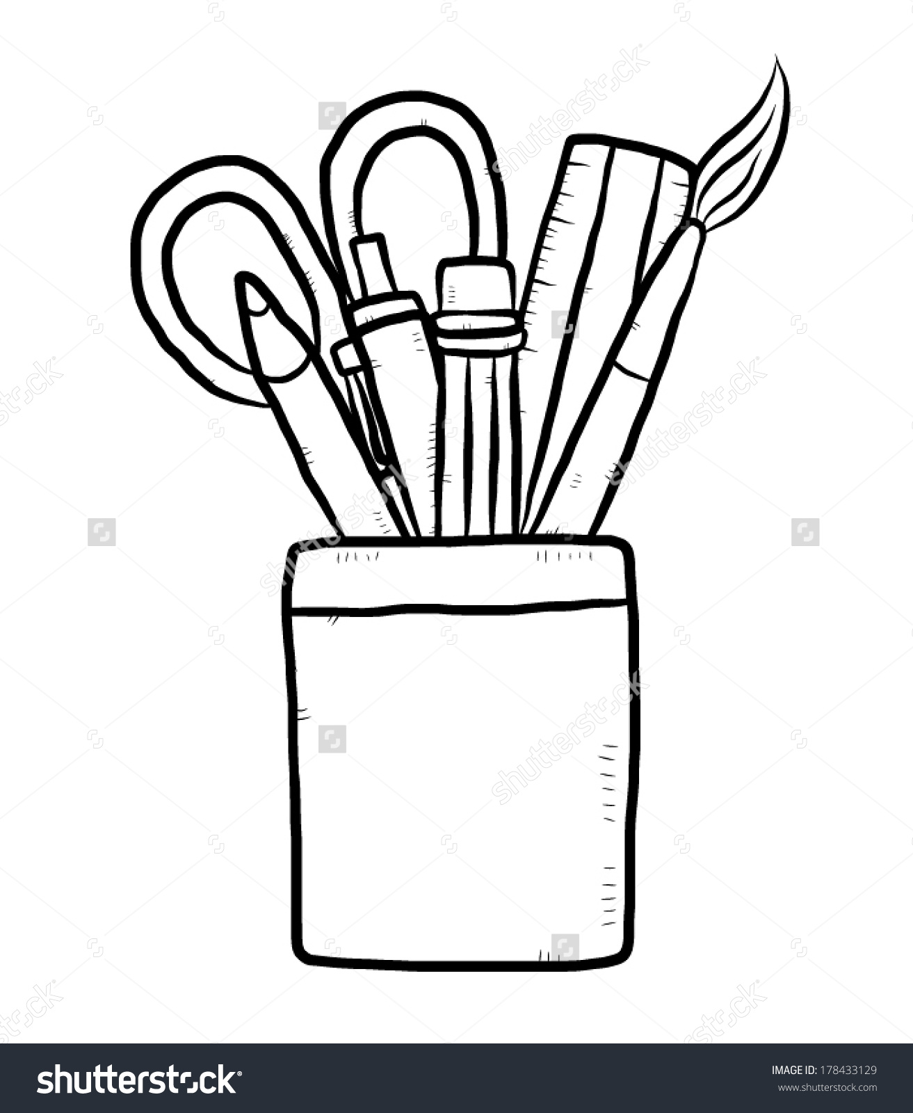 Stationery clipart black and white » Clipart Station.