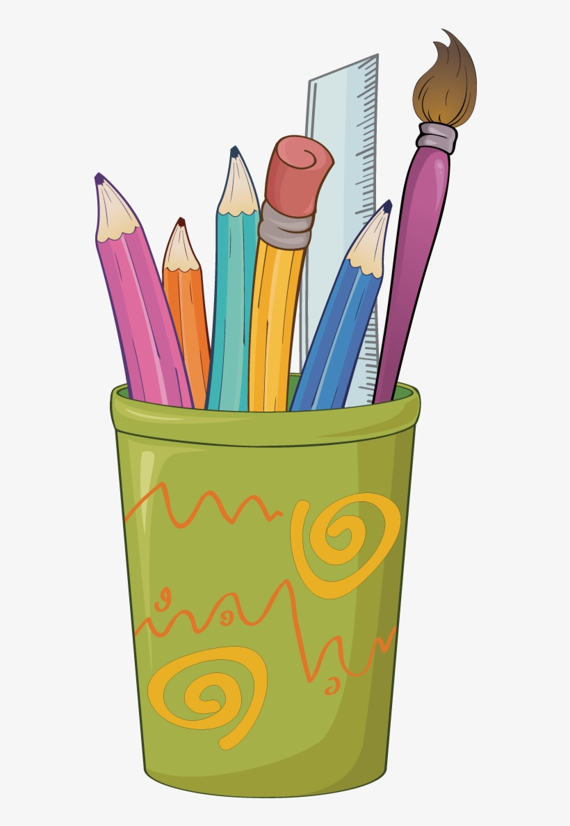Paper Colored Pencil Drawing Clip Art.