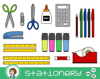 Stationery Clip Art.