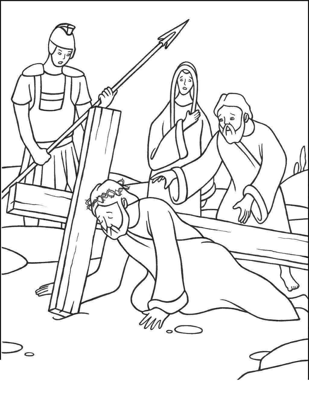 Jesus On The Cross Clipart Valid Stations Coloring Book.