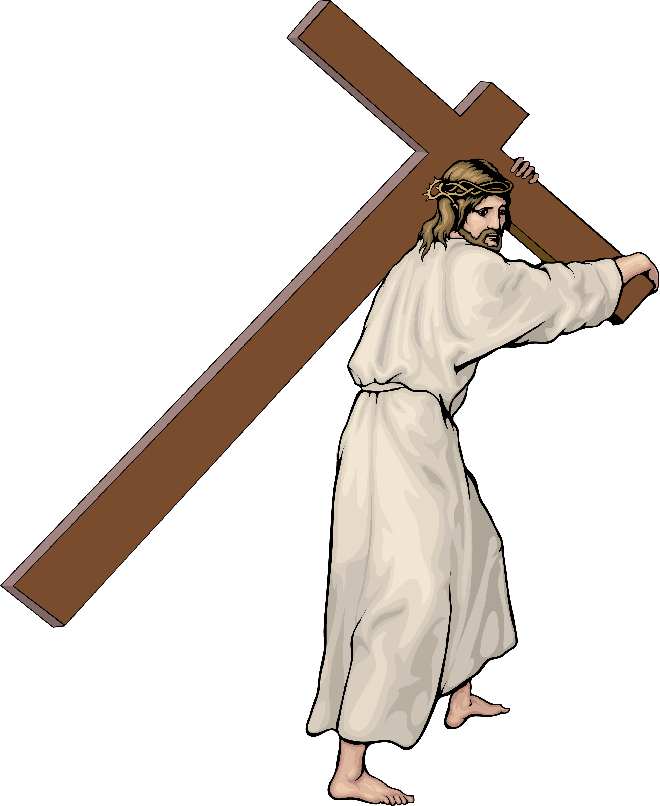 Catholic stations of the cross clipart.