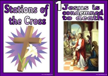 Stations of the cross clipart #13