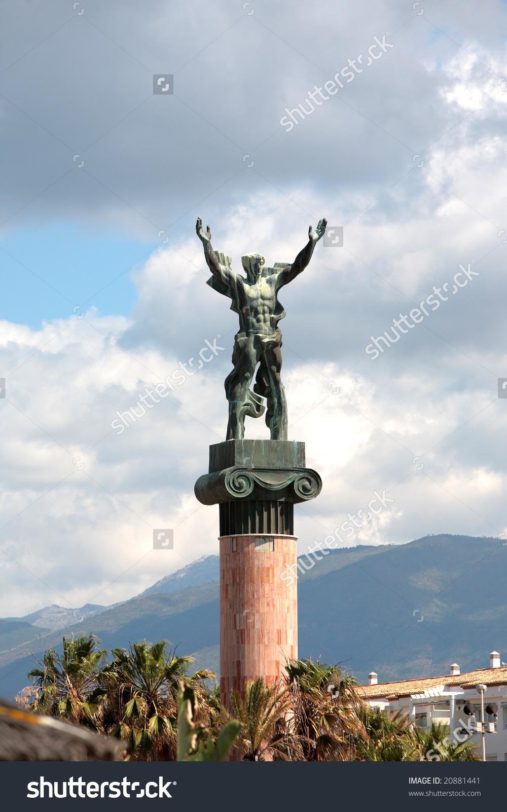 Statue La Victoria Victory By Georgian Stock Photo 20881441.