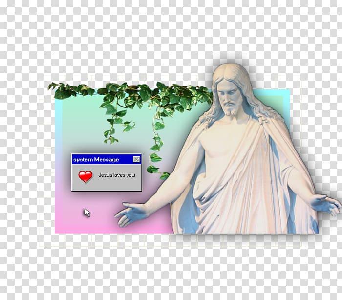 Christus Tumblr Statue Vaporwave, others transparent.