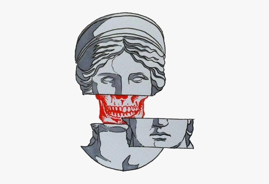 greek #grey #aesthetic #aes #tumblr #skull.