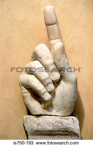 Stock Photo of Hand of colossal statue Rome is750.