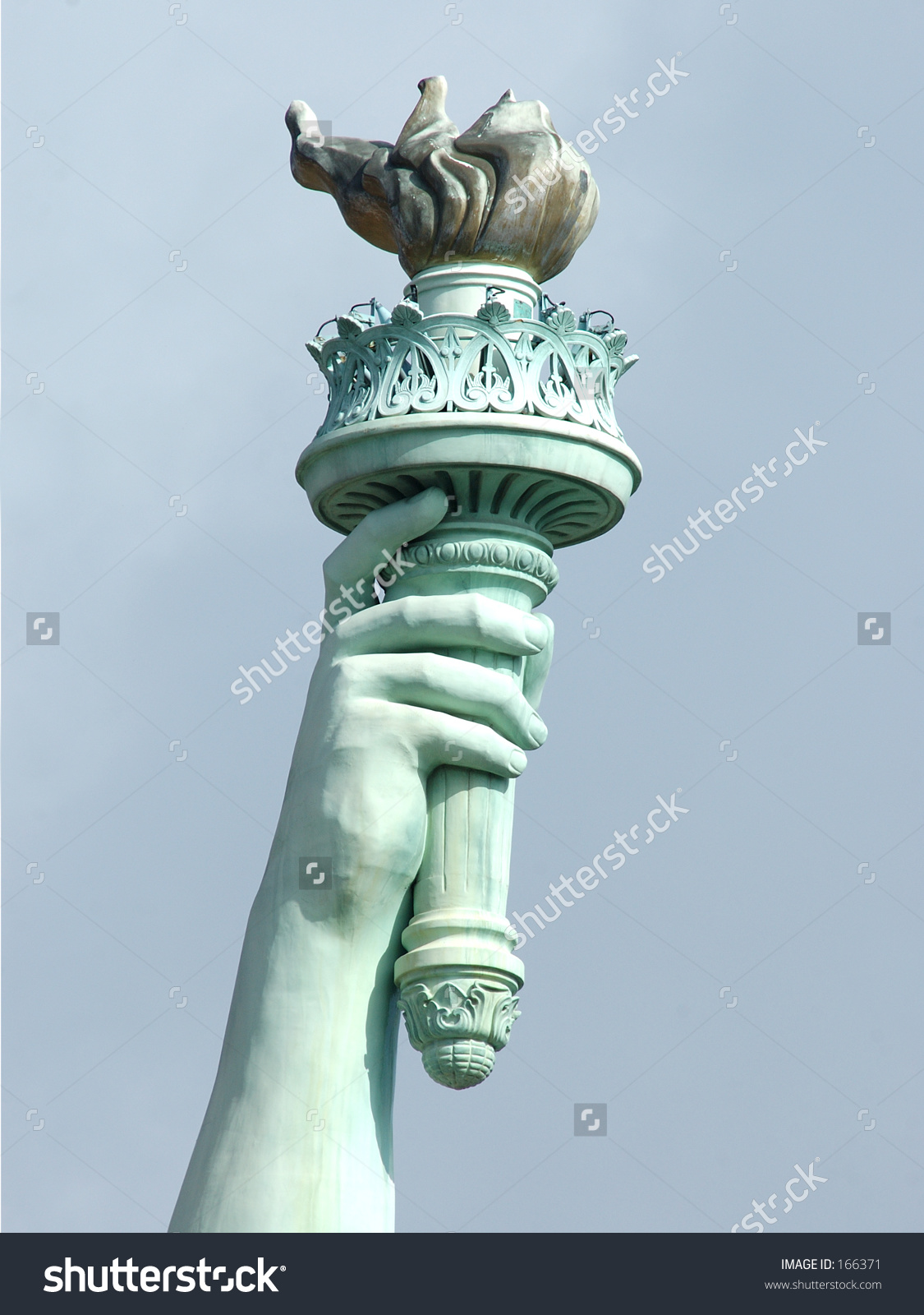Statue of liberty torch clipart color.