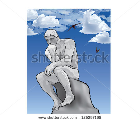 The Thinker Statue Stock Photos, Royalty.