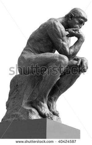 Thinker Statue Clipart.