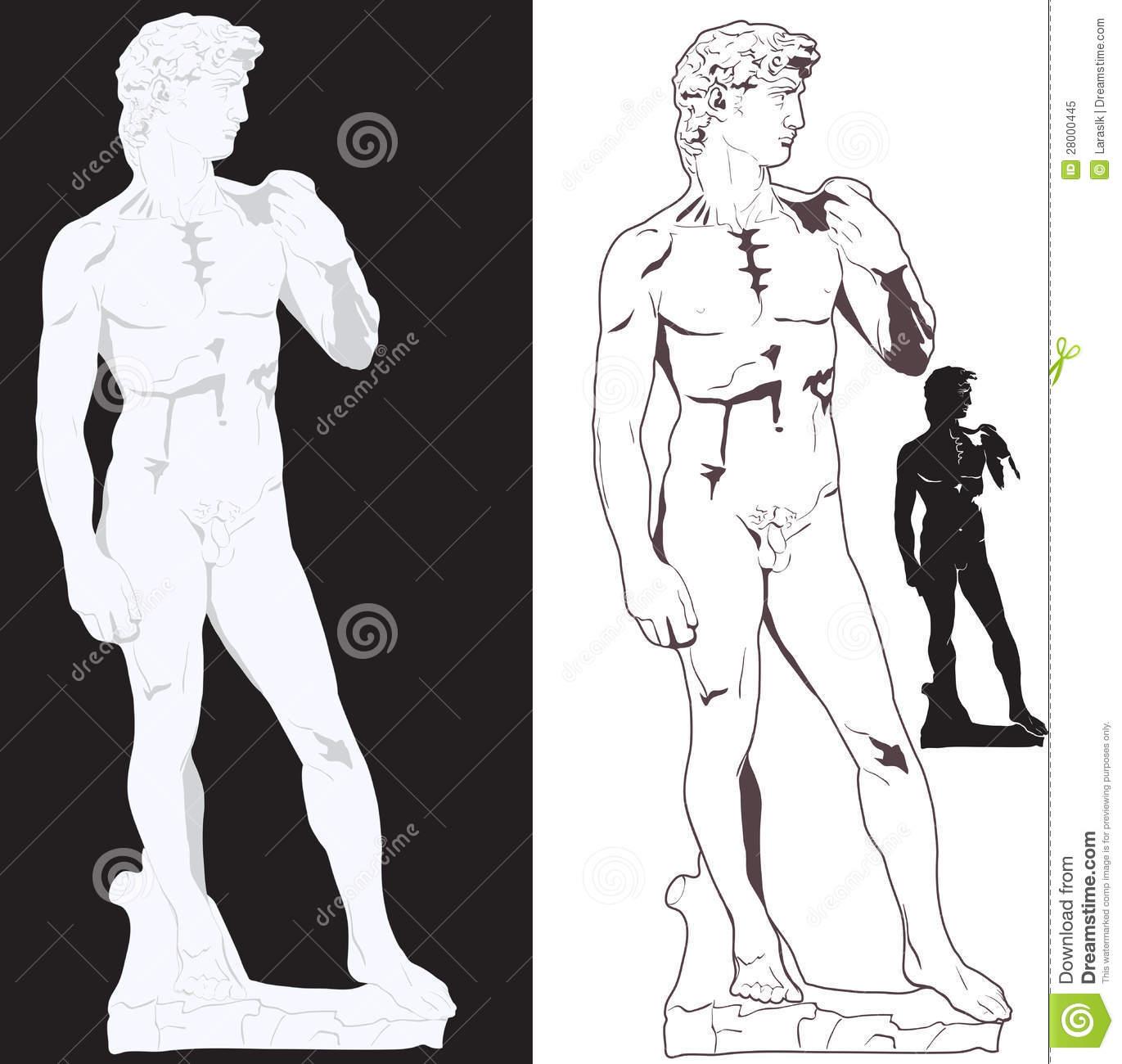 Statue David Stock Illustrations.