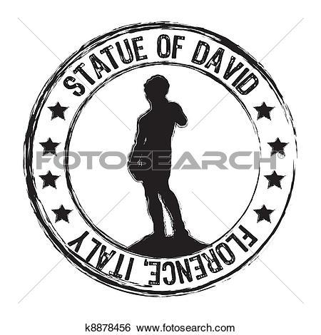 Clip Art of statue of david k8878456.