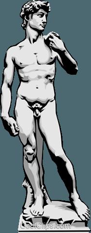 Statue of David Royalty Free Vector Clip Art illustration.