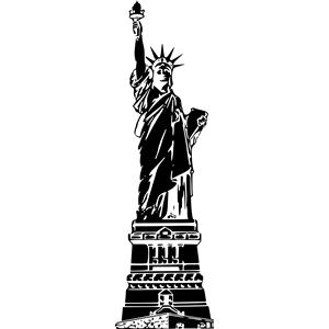 Statue of liberty clipart black and white clipartfox.