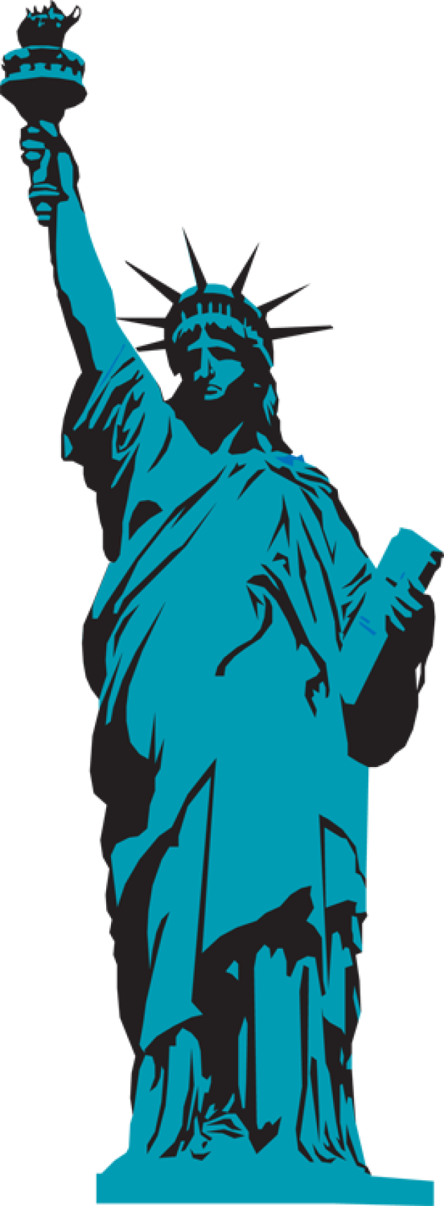 Statue of liberty clipart clipart.